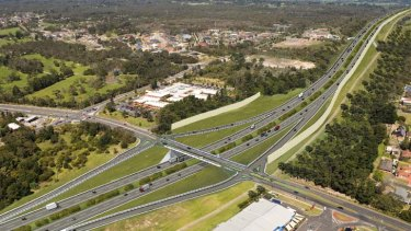 Artists impression of Frankston Bypass.
