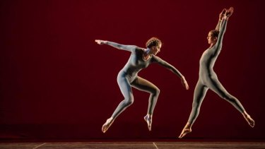 Jamie Scott and Cecily Campbell perform Trisha Brown's <i>Pure Movement.</i>