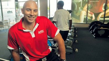 David Mensch in his Jetts Fitness franchise.