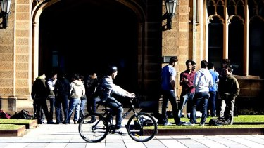 """I want the best students, not only those who can afford to pay"": University of Sydney vice-chancellor, Dr Michael Spence."
