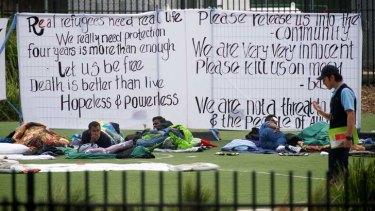 Hunger strikers in Broadmeadows.