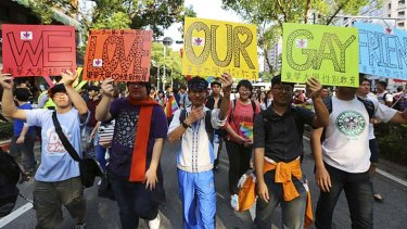 The 11th LGBT pride parade: Participants use the occasion to push for same-sex marriage.