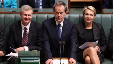 Labor leader pays tribute to Mr Whitlam in Parliament.