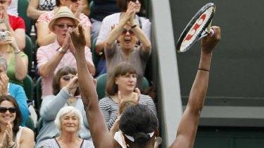 Cut out back ... Venus Williams