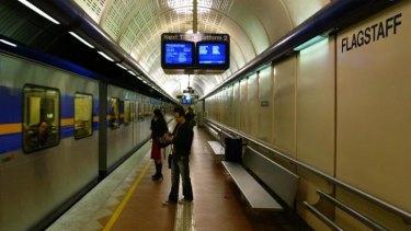 Commuters pass through Flagstaff station.