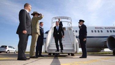 Prime Minister Tony Abbott arrives in Paris on Thursday. Photo: Andrew Meares