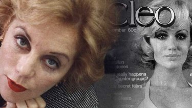 Ita Buttrose and an early edition of Cleo.