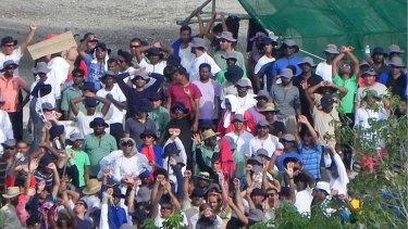 Prepared to die ... Nauru protestors continue their hunger strike.