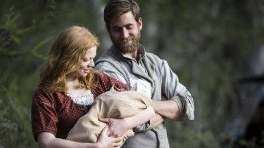 Oliver Jackson-Cohen and Sarah Snook star in <i>The Secret River</i>.