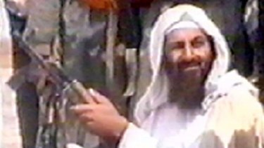 Osama bin Laden in a shot taken from television footage in 2001.
