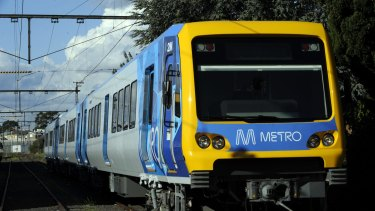 A person has been hit by a train in between Flagstaff and Southern Cross station.