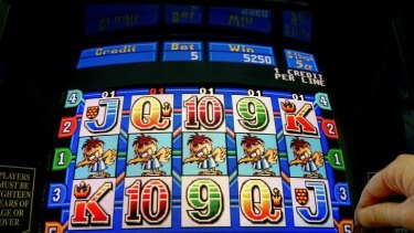 Hit the jackpot ... GetUp activists want Woolworths' pokies machines to be limited to $1 bets.