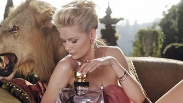 Lion's share ... Dunst in the campaign for new Bulgari fragrance Mon Jasmin Noir.