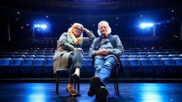 Set and costume designer Alice Babidge and lighting designer Nick Schlieper in the Sydney Theatre,
