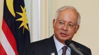 Embattled: Malaysian Prime Minister Najib Razak.