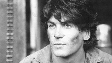 Jon Blake on set in 1981.