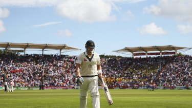 Struggling: Shane Watson found the going difficult in the first Test.