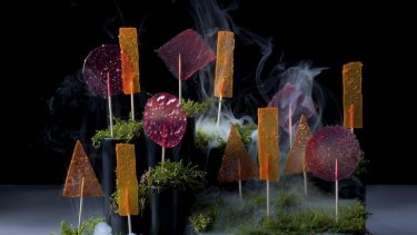 Creative treats ... Heston's carrot (or beetroot or tomato) lollies.