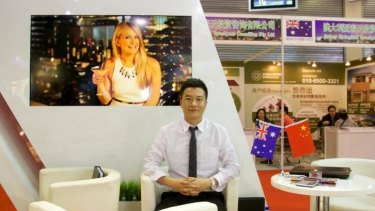 Money to be made in Australia: Wang Peng at a property expo in Beijing.