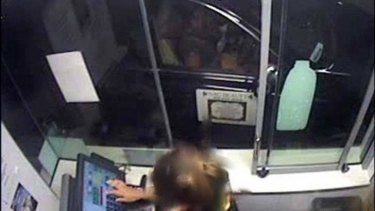 Novy Chardon is caught on CCTV footage at a McDonalds drive-through.