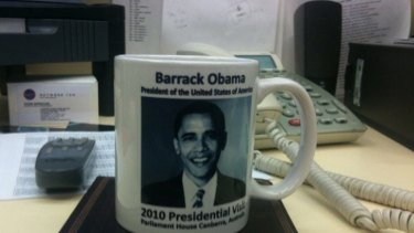 Oops! ... Two of the misspelled Obama mugs were sold to a journalist.
