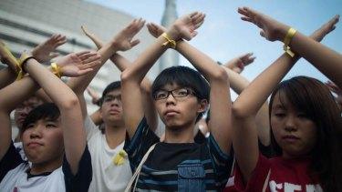 Student pro-democracy group Scholarism founder Joshua Wong.
