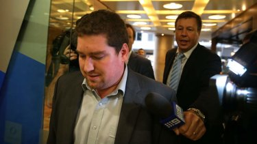 Tim Koelma leaves an ICAC hearing on April 7.