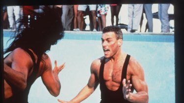Jean-Claude Van Damme in Lionheart, one of his 59 movies.