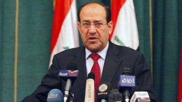 Wants a recount ... Iraqi Prime Minister Nouri al-Maliki.