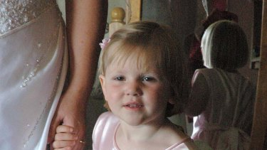 Darcey Freeman as a flowergirl at her aunt and uncle's wedding in September, 2006.
