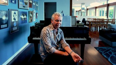 Time out ... Iva Davies finds time to relax at his Whale Beach house.
