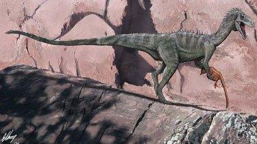 Illustration of a ceratosaur.