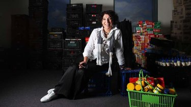 Full to the brim:  OzHarvest founder Ronni Kahn in one of the food storing rooms.