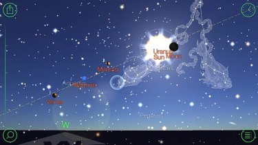 Comprehensive: A screenshot of the Star Walk app.