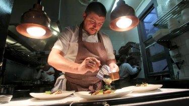 Scott Pickford working in his Northcote restaurant, The Estelle