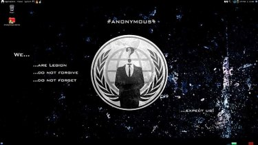A screenshot of Anonymous OS Live.