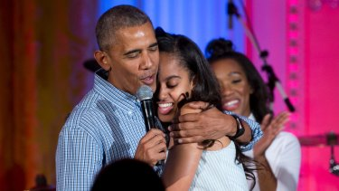 Malia Obama seems to back her father's policy decision.