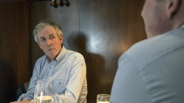 Whine and dine: Don Watson enjoys lunch at Il Bacaro with Konrad Marshall.