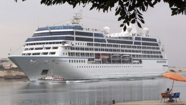 The Azamara Quest, pictured in 2010, has docked in Sandakan two days after a fire that injured five crew .