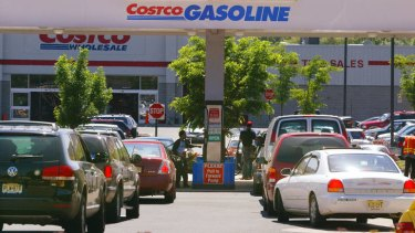 Petrol pumps are regular features of Costco's American stores.