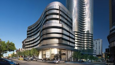 An artist's impression of the Capitol Grand development at the corner of Chapel Street and Toorak Road.