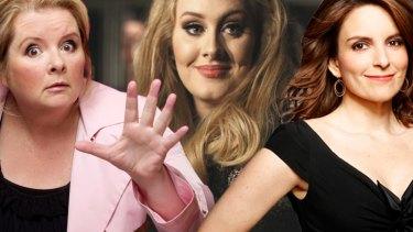 I'm every woman... International Women's Day icons Magda Szubanski, Adele and Tina Fey.