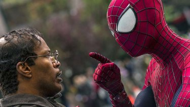 Graham Burke says going to the movies is still a cheap night out. Above: Jamie Foxx and Andrew Garfield in <i>The Amazing Spider-Man</i>.
