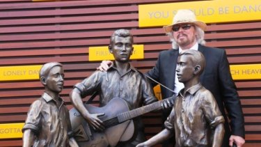 Barry Gibb at the Bee Gees Way unveiling in 2013.
