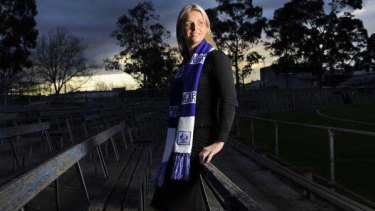 Bo Briedis, 30, investment banker and daughter of a North Melbourne legend. <i>Picture: Wayne Taylor</i>