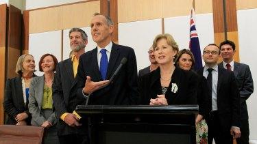 Former Greens leader Bob Brown after Christine Milne succeeded him in the top job.