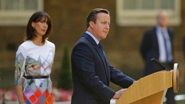 Then British PM David Cameron in June 2016.