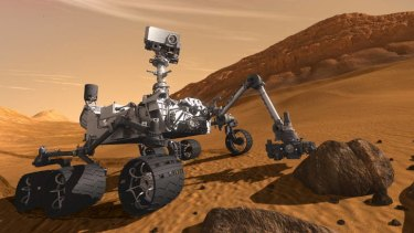 An artist's impression of NASA's planetary rover, Curiosity.