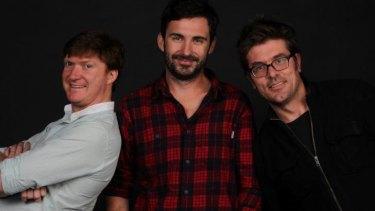 Jungleboys' Phil Lloyd, Trent O'Donnell and Jason Burrows.