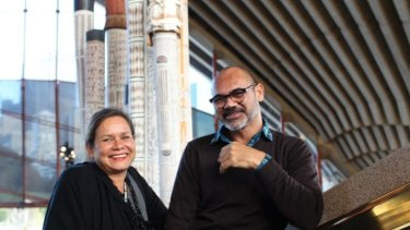 Inclusive: Rhoda Roberts, with David Page, says everyone is welcome to the NAIDOC festival, but especially hopes the young indigenous community embraces the program.